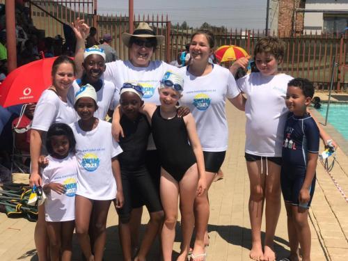 Swim Team with Teacher Caron
