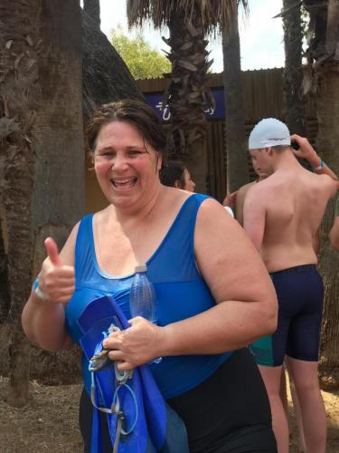Teacher Caron after her fun race